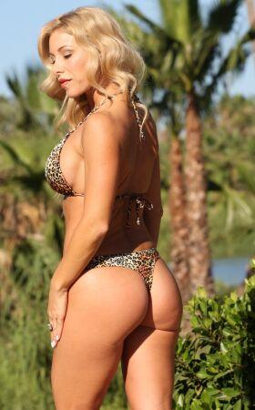 Golden Leopard Thong
