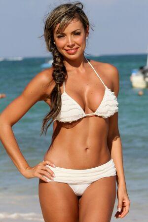 Romantic Ruffled Banded Thong Bikini