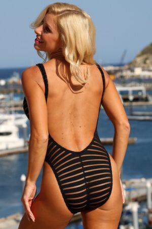 Sheer Stripes Double Dip