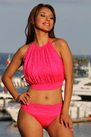 Le Mademoiselle Banded Swimsuit