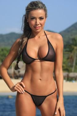 Sheer Sparkle Teeny G-String Bikini