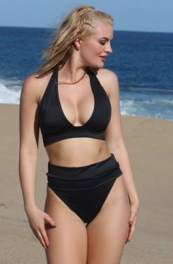 Long Banded Thong Bikini