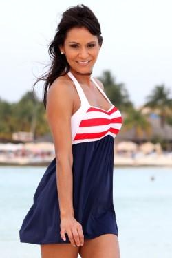 Sailor Girl Swim Dress Top