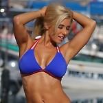 Strappy Red White and Blue Bikini Top