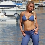 Baby Blue Jean Capri Pants