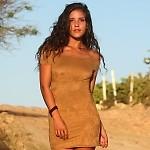 Faux Suede Bella Dress