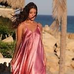 Rose Satin Resort Romper