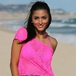 Hot Pink Lace Tee