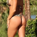 Golden Leopard Thong
