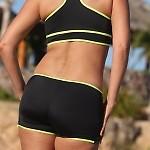 Zip Sport Outline Bikini Bottom