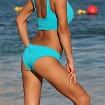 Turquoise Easee Fit Action Bikini Bottom