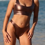 Easee Fit Bronze Action Thong Bikini