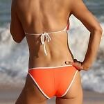 Neon Orange Outline Bikini