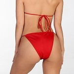 Red Itsy Bitsy String Bottom