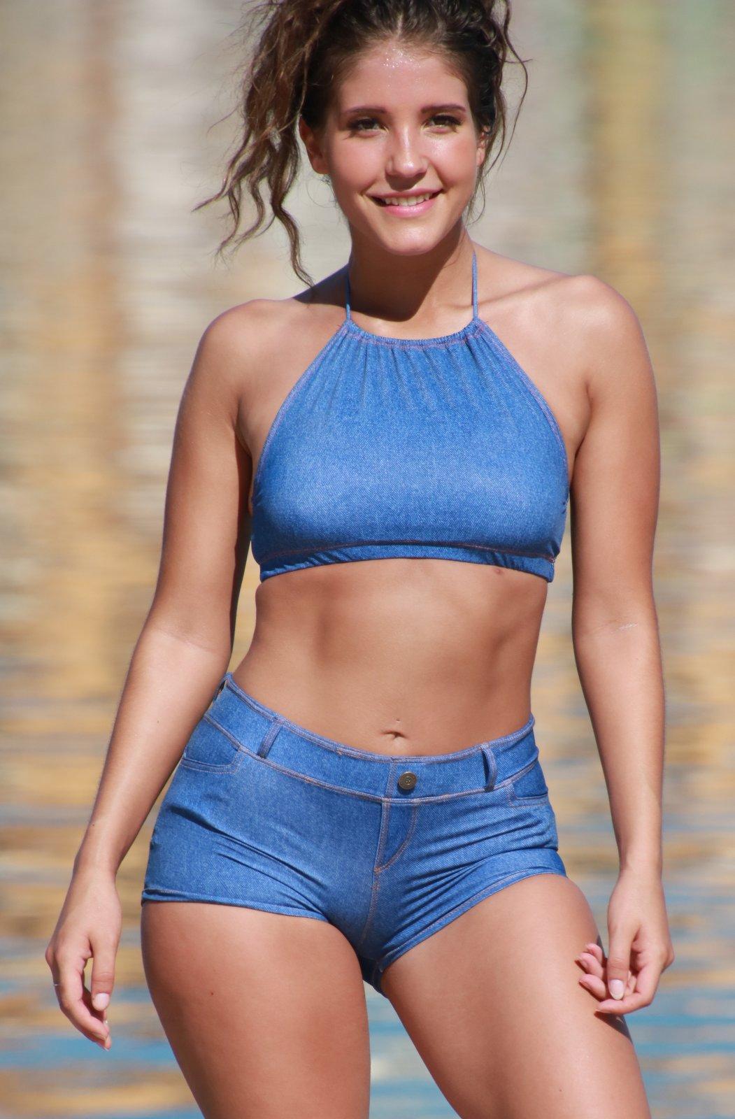 Baby Blue Jean Short