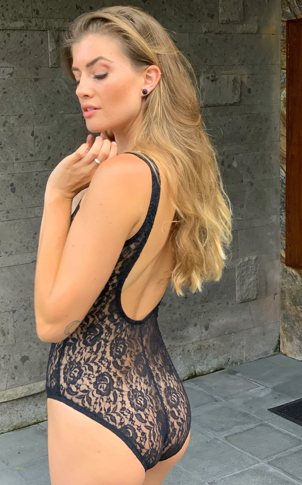 ac51987af3c7 UjENA Sheer French Lace One Piece. FREE Shipping with code 1300.