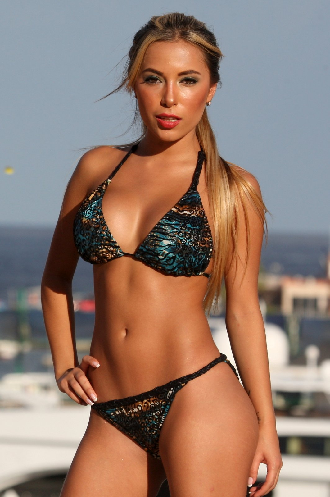 Fantasy Jungle Teal Braided Bikini