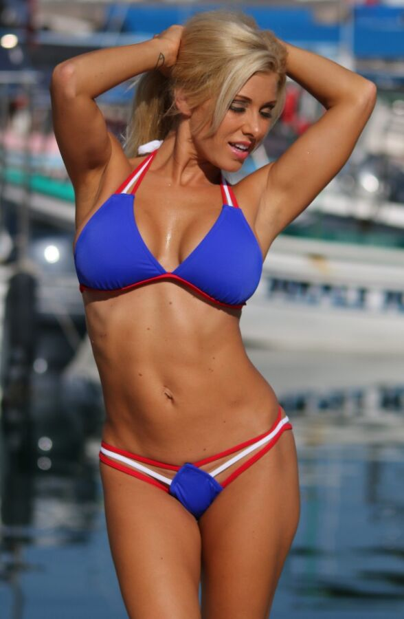 Strappy Red White and Blue Bikini