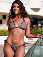 45405d9e890 $89.00, French Dot Sheer Banded Thong Bikini $99.00, Sheer Tie Tonga  $89.00. IRD Bubbles Sheer Tonga